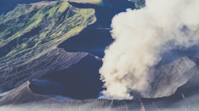 Smoke from Volcano