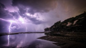 Lightning Near Body of Water