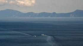 Kunashiri island in Japan