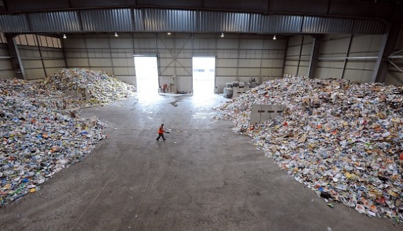 Garbage in a recycling plant of waste