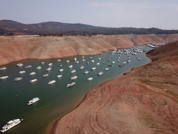 Low water on Lake Oroville