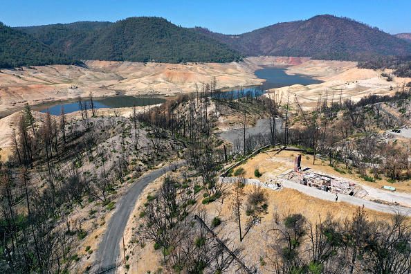 California's Drought Brings Lake Oroville To Historic Low Level