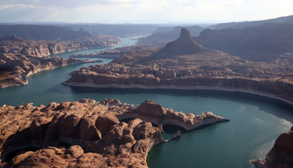 Low water level in Lake Powell