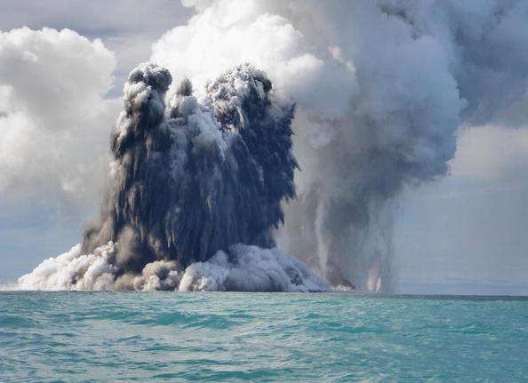 Underwater volcanic eruption