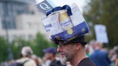 Coronavirus Skeptics Gather On Eve Of Protest March