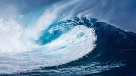 Artistic rendition of a tsunami
