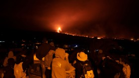 Volcanic Ash And New Eruptions Grounds Flights On Spain's Canary Island Of La Palma